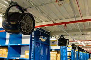 Fans for Auto DCs and Warehouses