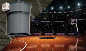 destratification fans for athletic facilities