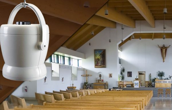Destratification fans for churches and chapels