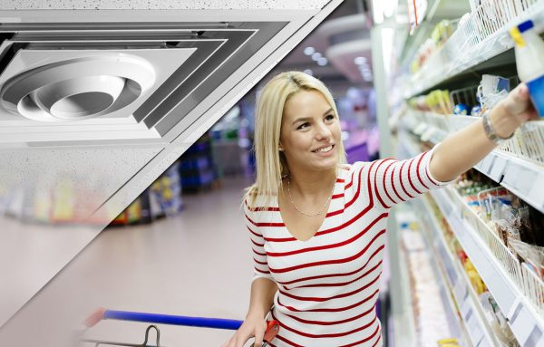 destratification fans for the grocery industry